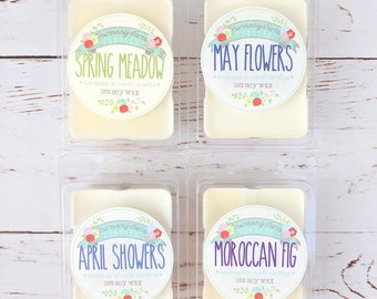 Spring Soy Wax Melts, Scented Soy Tart, Wax Melt, Wax Tarts, Clamshell Melts, Candle Melt, Wax Warmer