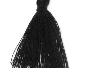 30mm black cotton tassel