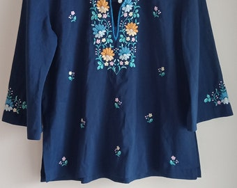 Bohemian Embroidered Bell sleeve blouse