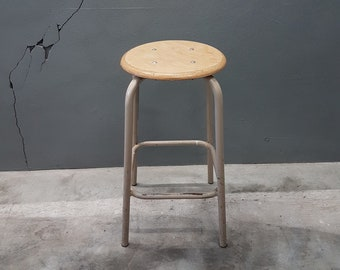 Vintage Industrial Stool Height 60 cm, 1960s
