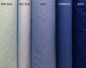 100% cotton - Plain Blue Range - fitted sheets