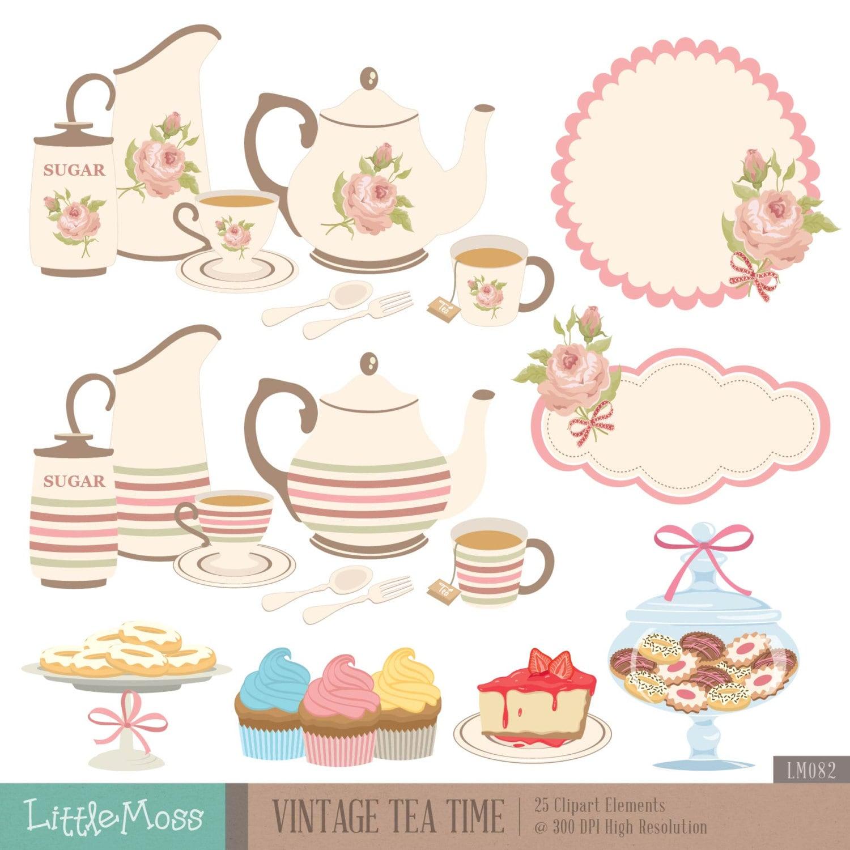 It is a graphic of Versatile Tea Party Clip Art