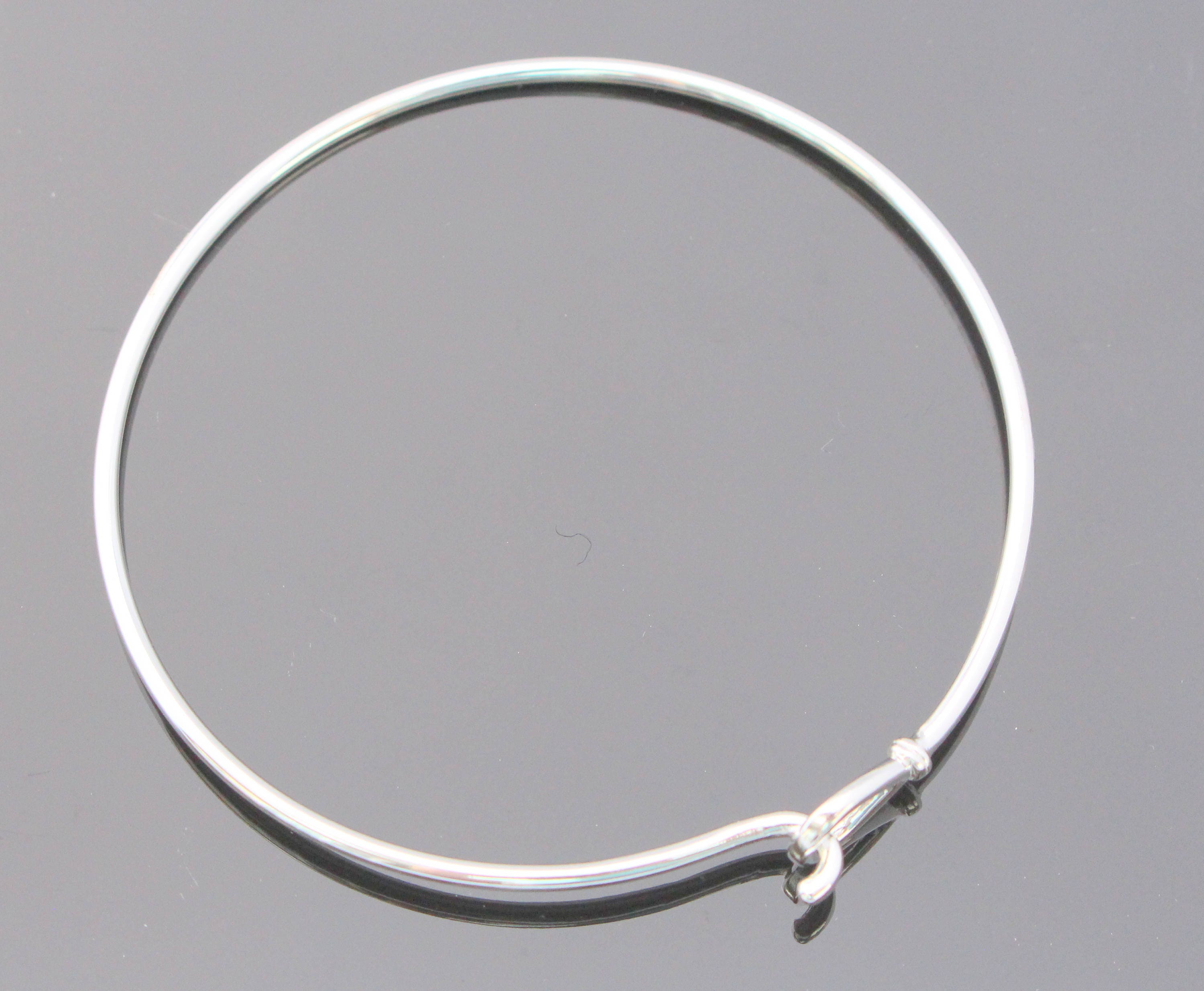 silver uk bangle school sterling girls p plain bangles asp charm bracelets flat jewellery