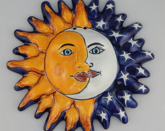 Mexican Sun And Moon Drawing