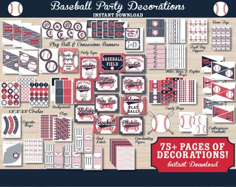 Baseball Party Decorations - Baseball Birthday Decorations - Baseball Printable - Baseball Party - Sports Party - Instant Download - 1st Bir