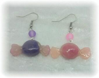 Greedy earrings - candy sweets
