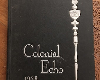 1958 Colonial Echo College of William and Mary Yearbook