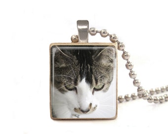 Cat Necklace | Cat Pendant | Cat Charm | Cat Jewelry | Cute Cat Necklace | Gift for Cat Lovers | Animal Necklace | Game Piece Necklace