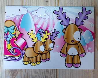 Rudolph's Winter sleigh! Card