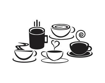 Coffee cup SVG, Coffee cup vector, Coffee cup SVG files, Cup Coffee SVG, Coffee cup Digital clipart, files download svg, eps, jpg, png, pdf