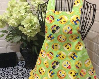 Emoji girl apron