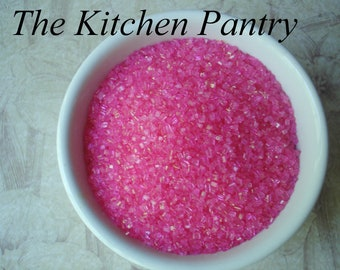 Pink  Crystal Sugar    Sanding Sugar - Sparkling Sugar   2 oz jar