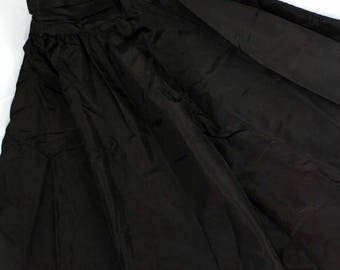 Vintage Gunne Sax Gunnies Pleated Full Circle skirt sz 3 black