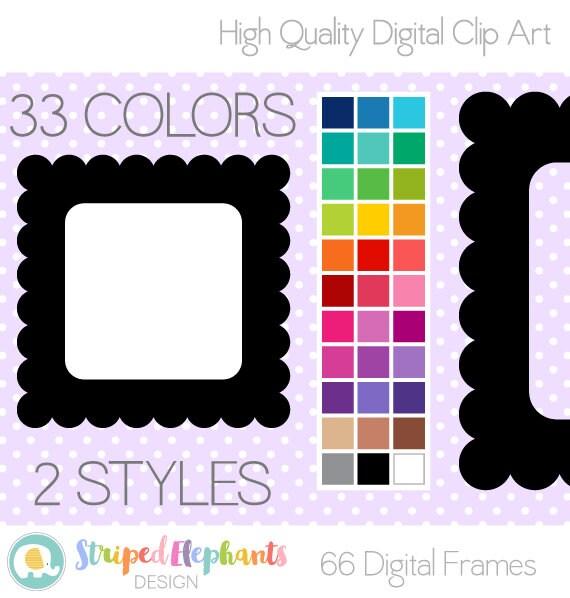 Scalloped Square Digital Frames
