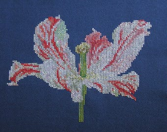 Embroidery Tulip pink