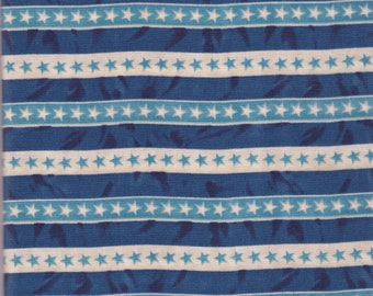Freedom's Children striped cotton fabric by Sara Morgan, for Blue Hill Fabrics, Cotton Stars and Stripes fabric, Quilt fabric