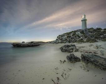 Rottnest Island Lighthouse, Western Australia,Landscape Photography, Turquoise Wall Art, Photographic Fine Art Print