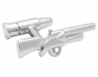 Shotgun and Bullet Cufflinks n00255