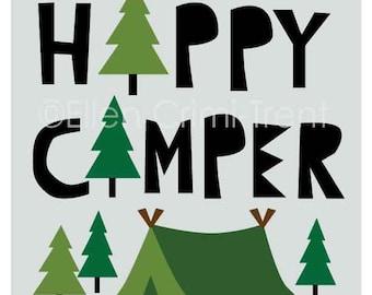 Happy Camper/boys wall art/ boys wall decor/ camping wall art/ kids wall art/ kids wall decor/ woodland wall art