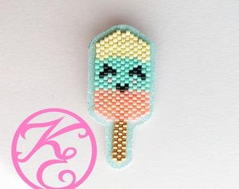 ice cream brooch beads Miyuki