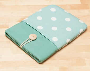 Kobo Aura H20 case / kindle sleeve / Kobo aura HD case / kobo mini case - Dots in sage