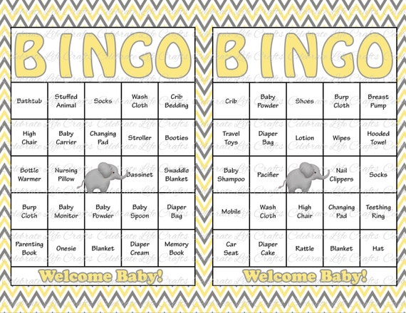 30 Baby Shower Bingo Cards Printable Gender Neutral