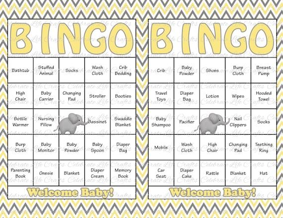 30 Baby Shower Bingo Cards Printable Gender Neutral