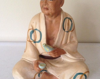 Vintage-Mid Century-Hakata-Urasaki Doll Made in Japan-Man with Sake Bottle