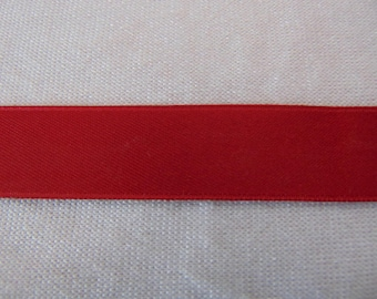 Double faced satin ribbon, cardinal red (S-0041)