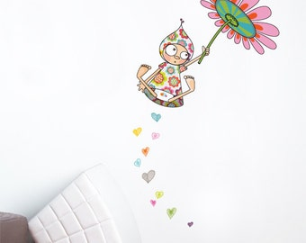 Viollette Takes Flight - Wall Decal - Color Print