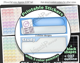 Printable College stickers Exam Stickers Printable for use in Erin Condren Planner Stickers Printable school stickers Test stickers exam