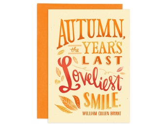 Autumn Smile Illustrated Greeting Card