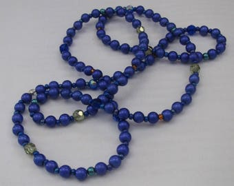 Happy shades of blue necklace, one of a kind, calming beads.