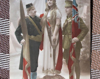 "WWI Postcard of The Holy Alliance ""Sainte Alliance"""