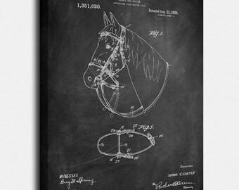 Bridel and Halter Canvases, Patent, Vintage Art, Blueprint, Poster, Wall Art, Décor [SA68C]