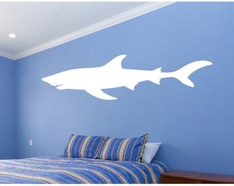 Great White Shark Wall Art Shark Wall Decal, Shark Vinyl Sticker Art,  Undersea,
