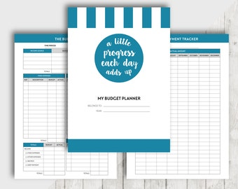Printable A5 BUDGET Planner, Financial Planner Inserts, Finance Organiser, Money Planning, Monthly Saving, Expense, Debt Payment, Goal Set