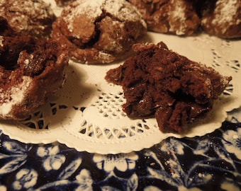 Gluten Free Triple Chocolate Clouds, Meringue semi sweet dreams, no flour-Chocolate Treat