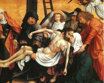 Religious Art, The Deposition by Master of Frankfurt & Pieta with Saints by Montagna is on the Reverse Side of the Page PSS 2947