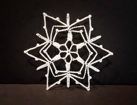 Vintage Handmade White Crocheted Christmas Ornament #10