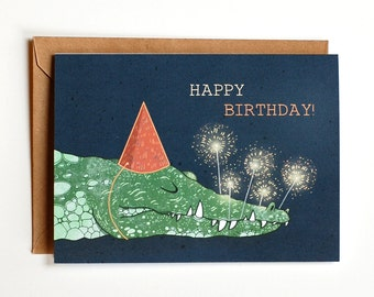 Birthday Crocodile Greeting card