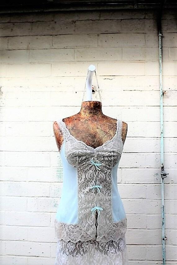 Vintage mint green Vassarette camisole Bridal Babydoll/lingerie/wedding night bridal designer/Vintage Lingerie/1960s slipdress/Bridal shower