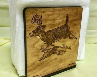 Custom Engraved Wood Napkin Holder