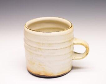 Salt Fired High-Iron Stoneware Mug - White Glaze, 0425031