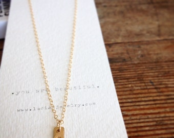 Simple Gold Monogram Necklace