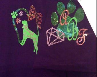 Girl's Best Friend- Dog Lover T-shirt- Monogrammed