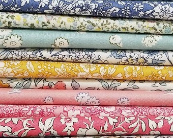 Liberty of London 13 Fat Quarter cotton quilting fabric bundle English Garden and Cottage Garden