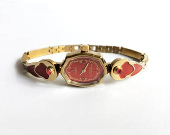 """Watches. Womens watchs, Gold vintage watch. Soviet watch, soviet watch, Vintage watch, Russian watch, """"Chaika"""" 17 jewels, Mechanical watch"""