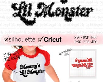 Mommy's Lil Monster Iron-on, Mommy's Lil Monster SVG, Mommy's Lil Monster Cutting File, Mama's Lil Monster, Mom's Lil Monster