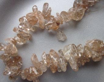 Ice Flake Quartz Large Chip Beads 13-19mm 24 Beads